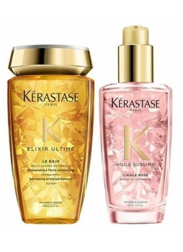 Kerastase Kerastase Elixir Ultime Le Bain Şampuan 250 ml + Boyalı Saç Parlaklık Yağı 100 ml Renksiz